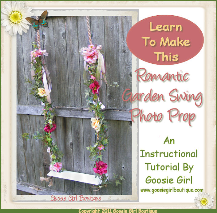 How to make a Victorian Garden Swing Photo Prop PDF Instructions Pattern Ebook by Goosie Girl