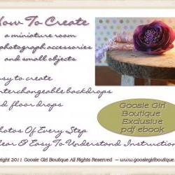 Learn how to make a miniature room photography prop ebook pdf pattern and instructions Goosie Girl