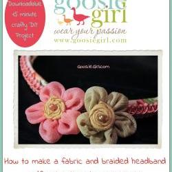 Fabric and Braided Trim Headband PDF Pattern Instructions Goosie Girl  No Sewing